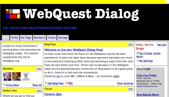 screen dump of Dialog web page